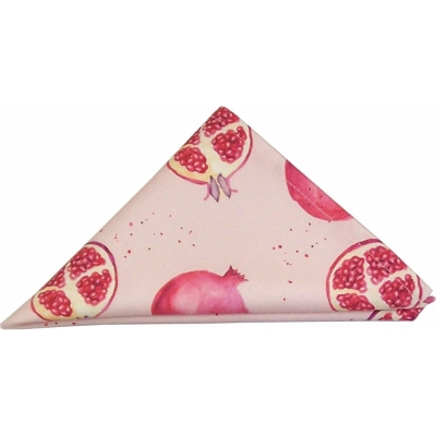 Pomegranate Stripe Tea Towel  Pomegranate print Luxury Tea Towel,   Pink and White,   50cm x 70cm,   100% Cotton,   Hand Painted Design,   Made in Great Britain,