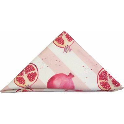 Pomegranate Tea Towel  Pomegranate print Luxury Tea Towel,   Pink,   50cm x 70cm,   100% Cotton,   Hand Painted Design,   Made in Great Britain,