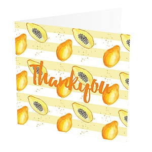 view Thank You Card Papaya details