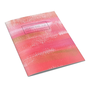 view Pink Brushstroke Notebook details
