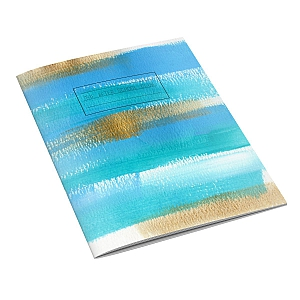 Blue Brushstroke Notebook
