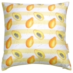view Papaya stripe cushion details