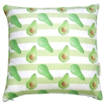 view Avocado stripe cushion details