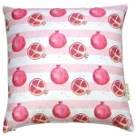 view Pomegranate stripe cushion details
