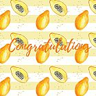 Congratulations Card Papaya