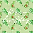 Happy Birthday Card Avocado